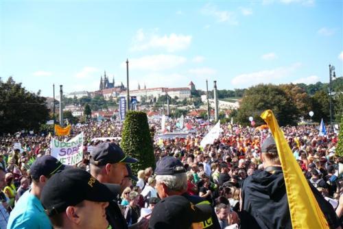 Demonstrace Praha 21.9.2010